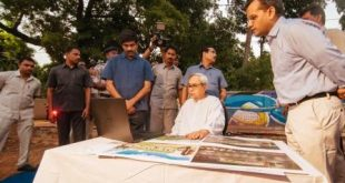 Odisha CM visits Smart Janpath project site