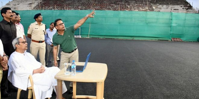 Naveen reviews progress work of Odisha Men's Hockey World Cup 2018