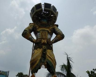 E-waste Ravan sculpture installed on World Environment Day
