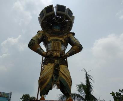 E-waste Ravan sculpture installed on World Environment Day