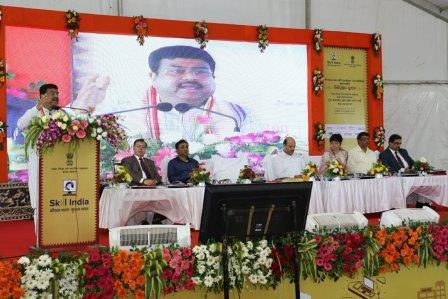 Pradhan lays foundation stone for India's first National Skill Training Institute