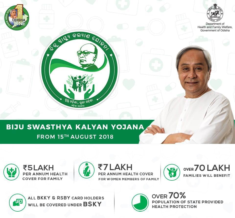 Odisha CM launches Biju Swasthya Kalyan YojanaOdisha CM launches Biju Swasthya Kalyan Yojana