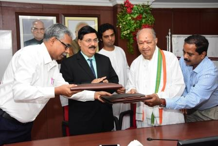 Nalco signs MoU Pandit Hariprasad Chaurasia's Vrindaban Gurukul Trust