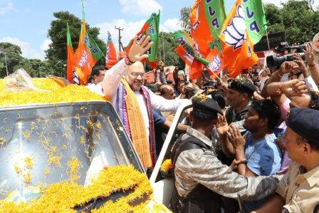 Amit Shah arrives in Odisha to attend BJP Mahila Morcha executive meet
