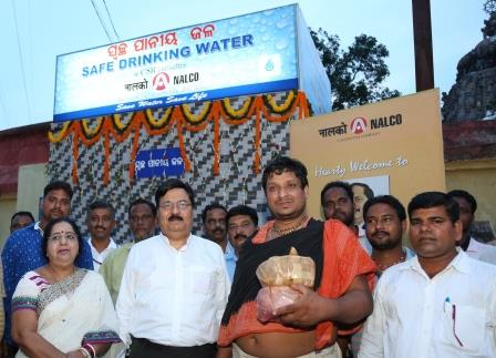 NALCO adds drinking water kiosk at Sakhigopal Temple