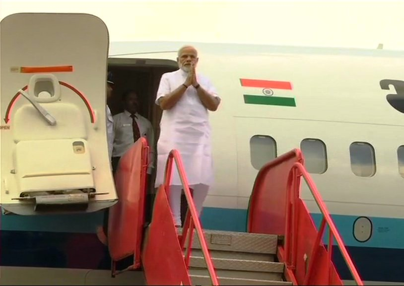 PM Modi reaches Odisha to inaugurate Jharsuguda airport