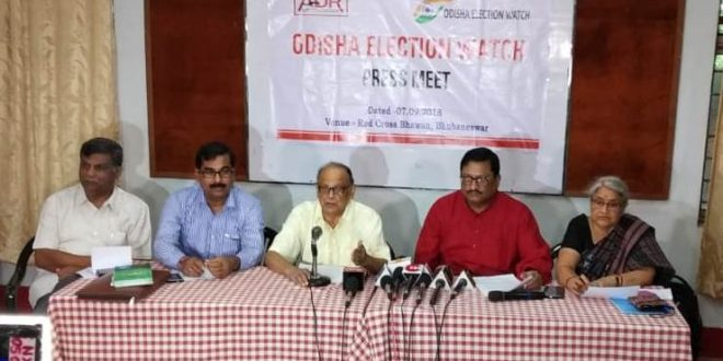Odisha Election Watch, ADR appeal not to nominate politicians with criminal background