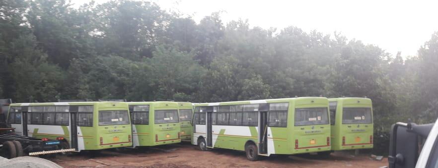 CRUT midi buses start arriving in Bhubaneswar