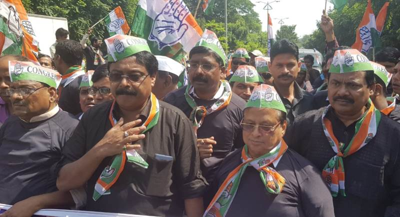 Odisha Congress holds demo before CBI office against Modi govt