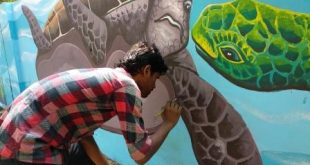 Ahead of Men's Hockey World Cup, work for murals on wall begins