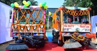CM flags off mechanical street sweeping in city