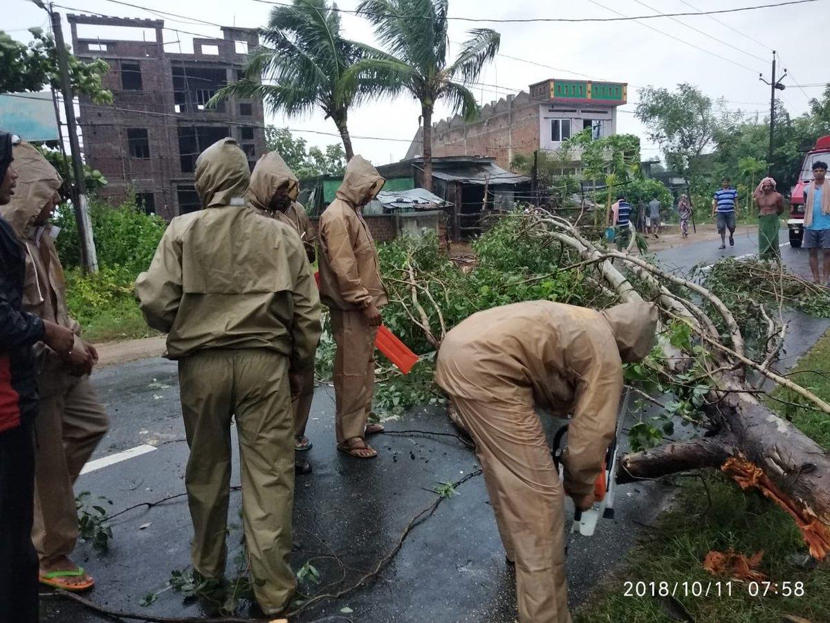 Very Severe Cyclonic Storm Titli crosses Odisha coast