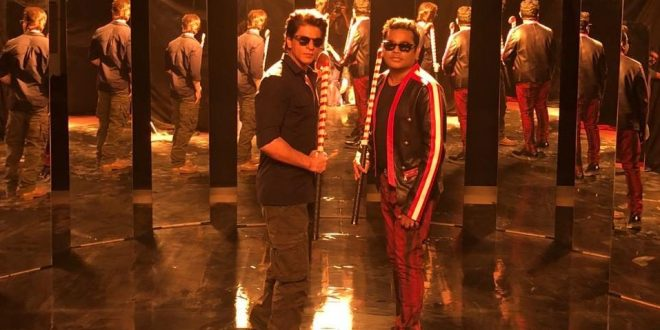 AR Rahman directs Shah Rukh Khan for hockey world cup song