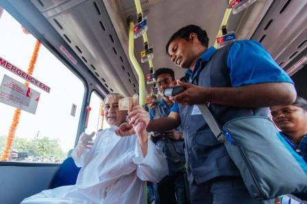 Odisha CM inaugurates Mo Bus in Bhubaneswar