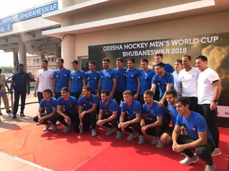 Olympic Champions Argentina arrive Hockey Men's World Cup 2018