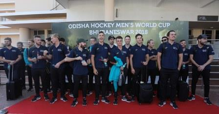 Hockey World Cup: Australia land in Bhubaneswar to defend their title