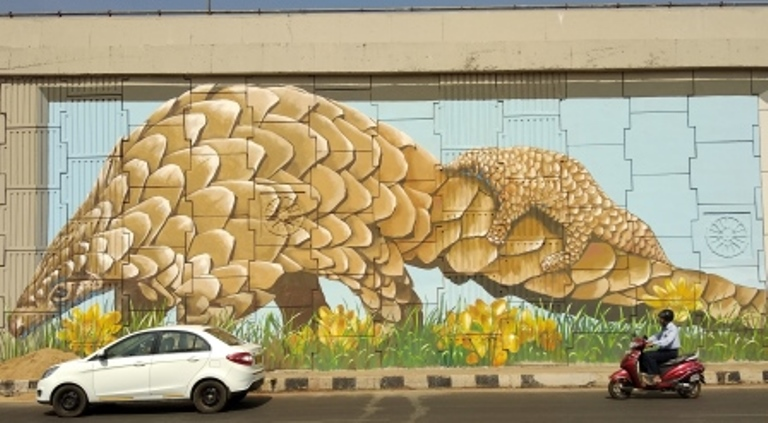 3D art by international experts turn city into mural capital