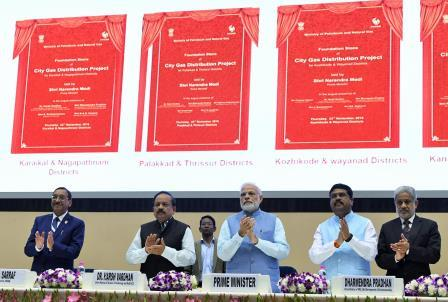 PM lays foundation stone for City Gas Distribution