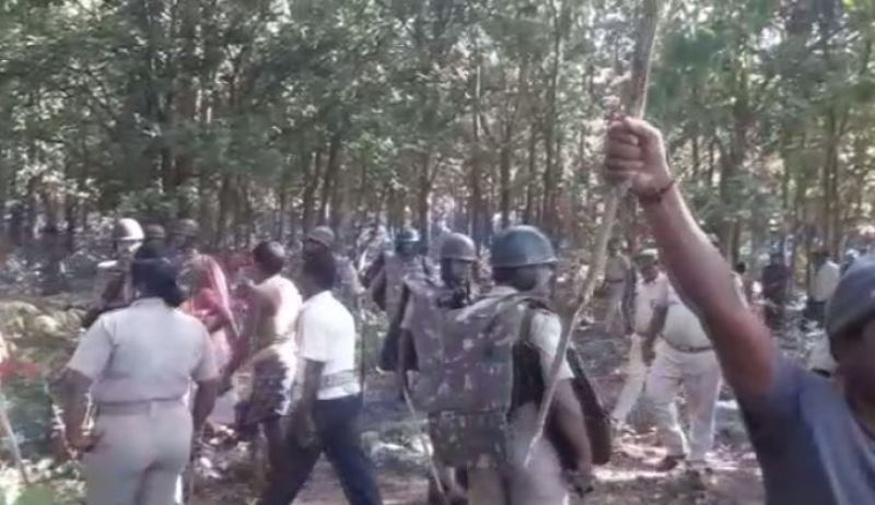 Villagers protest tree felling for beer factory in Dhenkanal