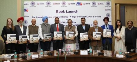 Arun Jaitley launches Hockey India Coffee Table Book
