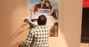 Ekamra Cinema fined Rs 5,000 for defacing flyover with poster