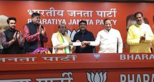 Former Odisha Minister Damodar Rout joins BJP