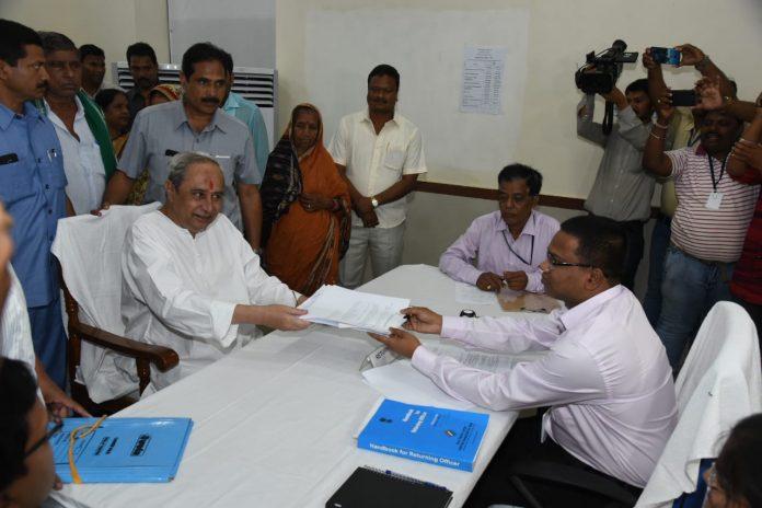 Naveen files nomination for Hinjili constituency in Odisha