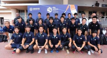 Japanese team arrives for the FIH Men's Series Finals 2019
