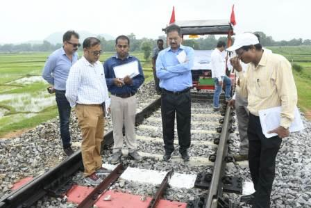 CRS inspects newly laid rail line in Nayagarh