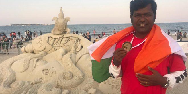 Sudarsan gets People's Choice award in Boston International Sand Championship