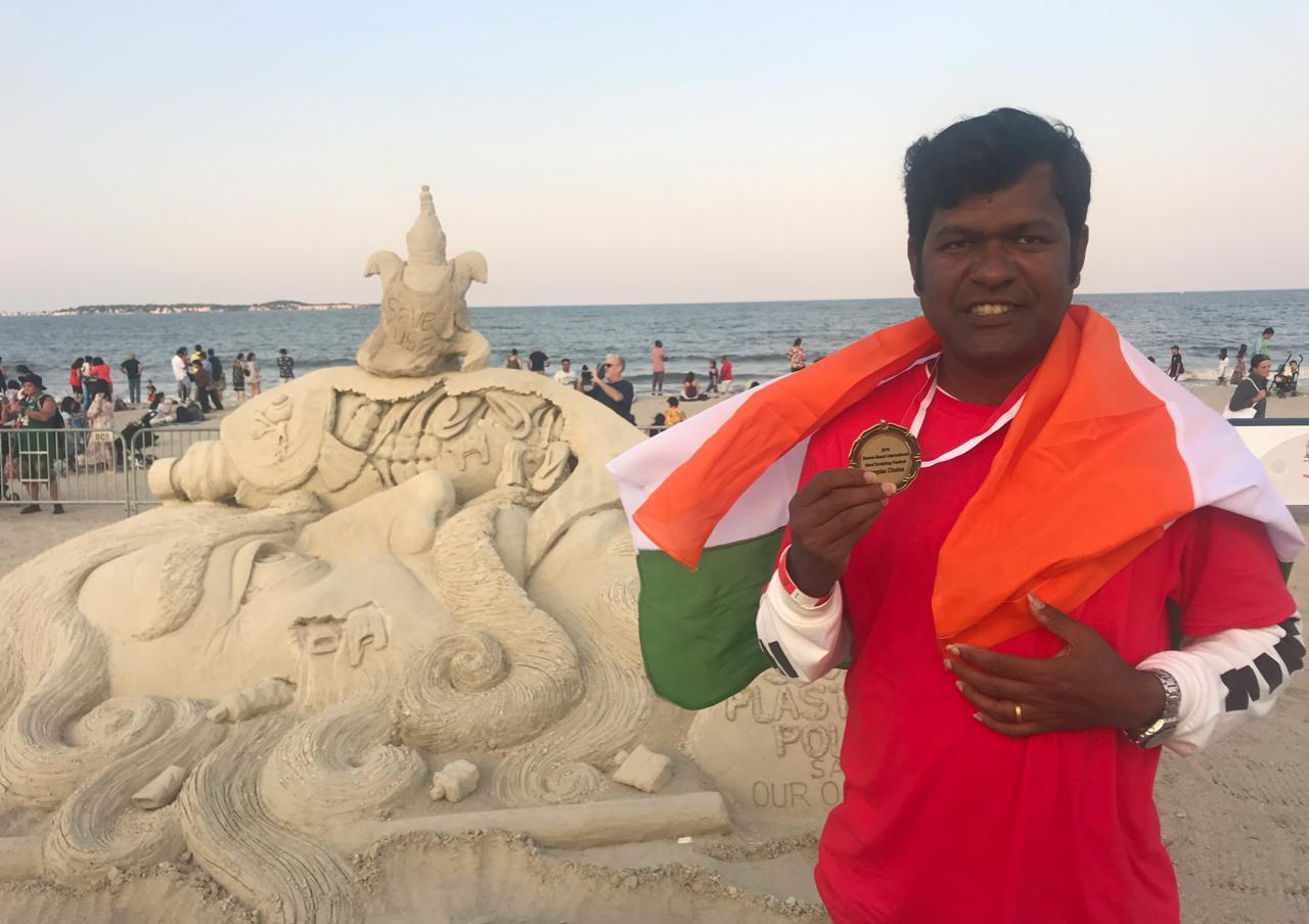 Sudarsan gets People's Choice award in Boston International Sand Championship