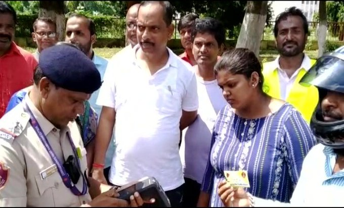 MLA Ananta Narayan Jena fined for illegal parking