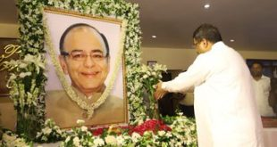 Leaders remember Arun Jaitley in Bhubaneswar