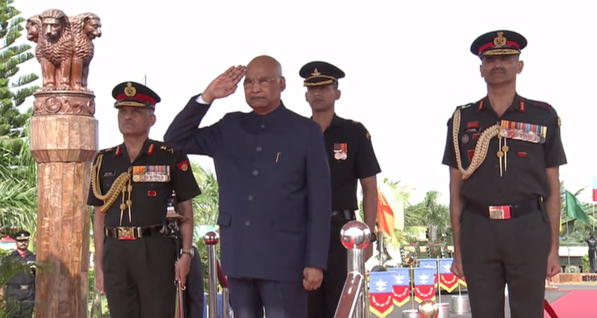 President Kovind presents Colours to Corps of Army Air Defence