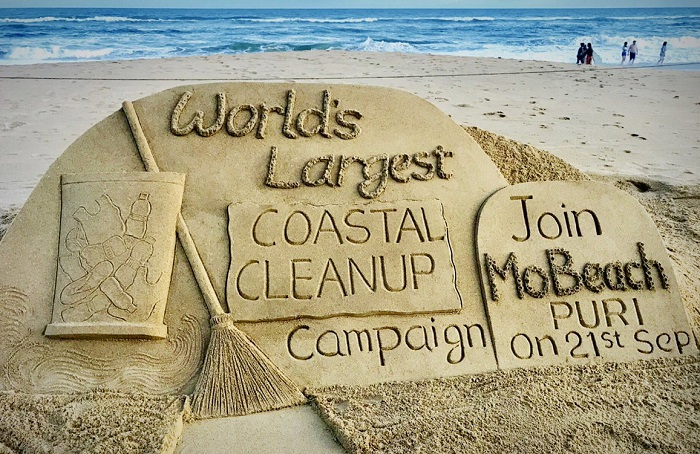 World's biggest beach clean-up drive at Puri
