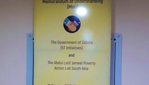 Abhijeet Banarjee, Esther Duflo founded J-PAL South Asia signs MoU with Odisha govt