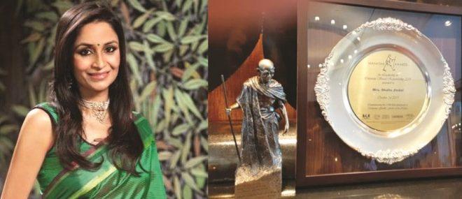 Shallu Jindal honoured with Mahatma Award for leadership in CSR