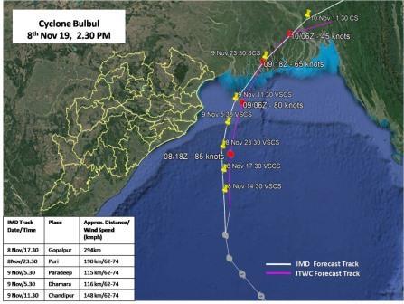 Cyclone Bulbul impact
