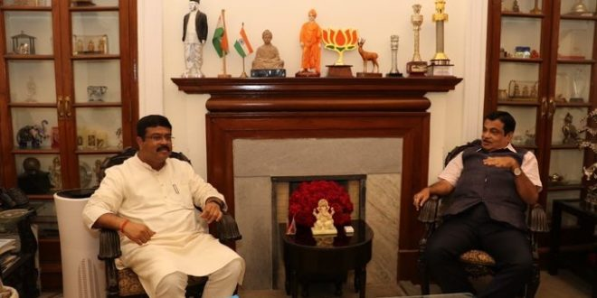 Pradhan, Gadkari review NHAI projects in Odisha