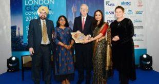 Shallu Jindal honoured with Golden Peacock Award