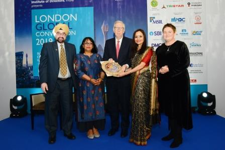 Shallu Jindal honoured with Golden Peacock Award