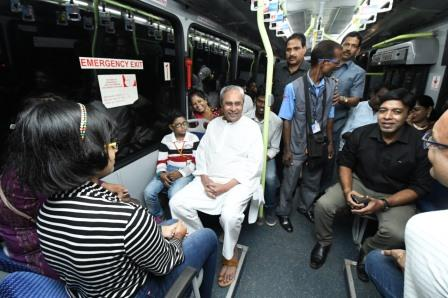 Naveen takes ride as Mo Bus celebrates first anniversary