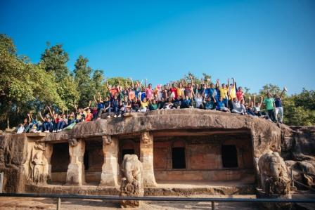 Plogging and heritage storytelling at Khandagiri-Udayagiri