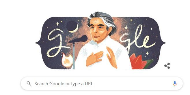 Google doodle celebrates Urdu poet Kaifi Azmi's birthday