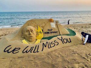 Sudarsan pays tribute to Kobe Bryant through sand art