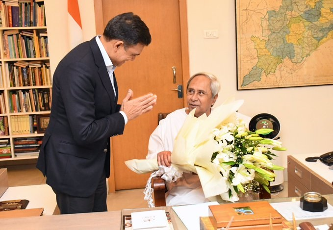 JSW Group chairman Sajjan Jindal meets Odisha CM
