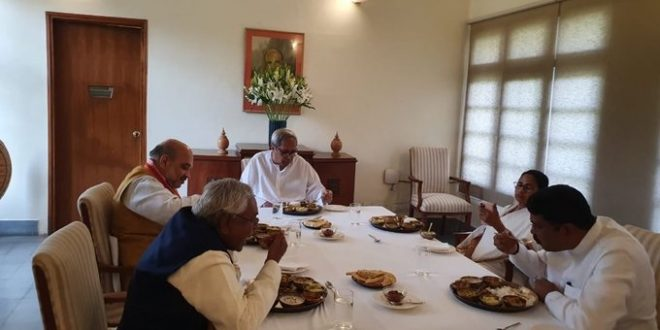 Naveen hosts lunch for Shah, Mamata