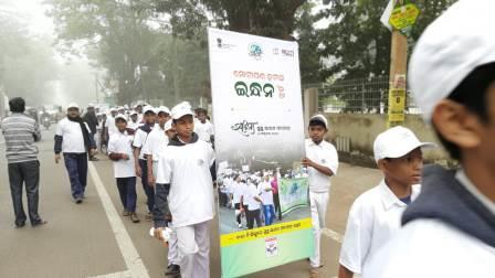 Oil industries organize walkathon in Odisha