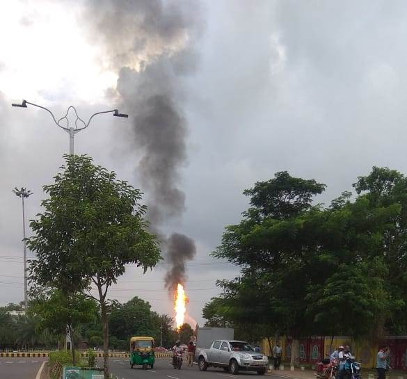 Fire at Raj Bhawan petrol pump