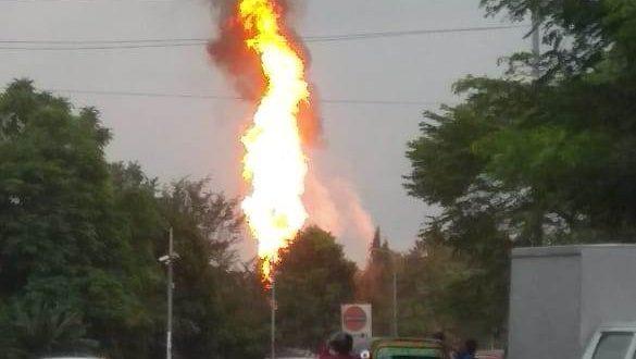 Major fire at Raj Bhawan petrol pump